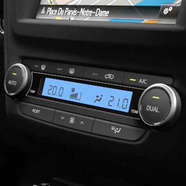 Dual-zone automatic air conditioning