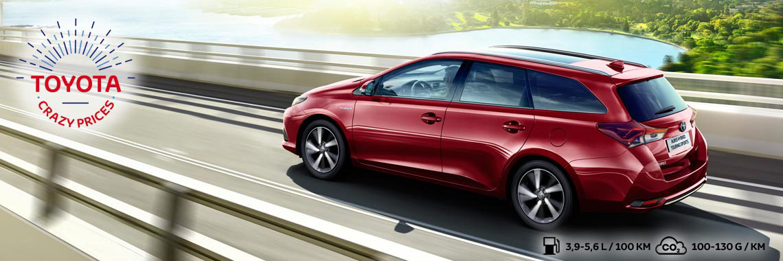 Crazy Prices' korting van €4.500 op Auris Touring Sports Pure